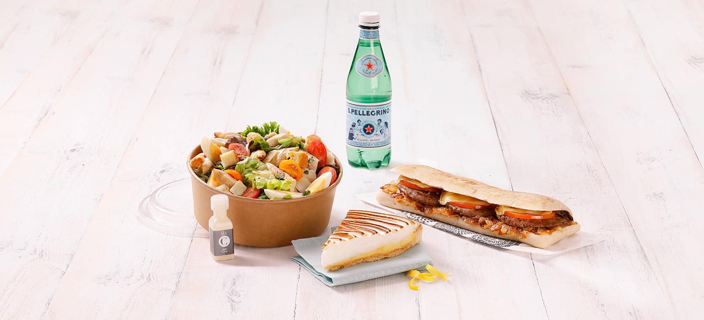 salade dessert sandwich boisson à manger sur place ou à emporter chez flunch