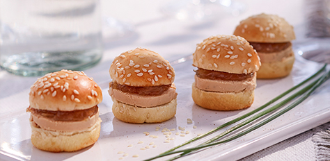Traiteur flunch mini burger foie gras